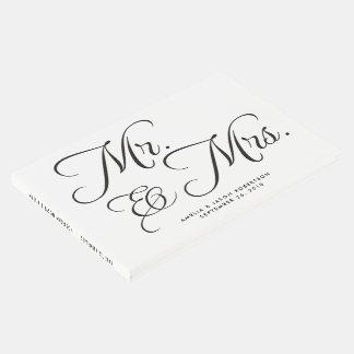 Livro de hóspedes, Sr. & Sra. do casamento, preto