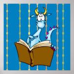 Livro de leitura do dragão poster