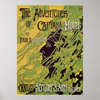Livro de Nouveau da arte do vintage, capitão Poster