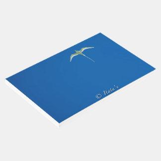 """Livro de ouro """"Pássaro branco Tahiti """""""