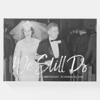 Livro De Visitas 50th Aniversário de casamento com foto - nós ainda