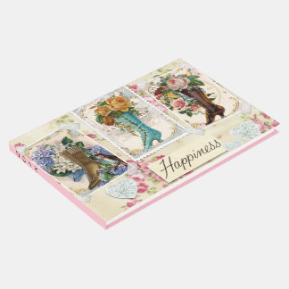 Livro De Visitas A felicidade é botas de Steampunk do Victorian