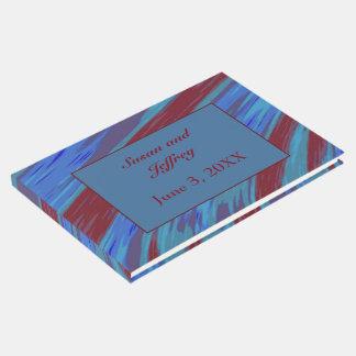 Livro De Visitas Abstrato da abanada da cor de azul vermelho