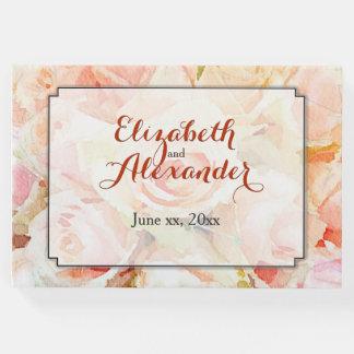 Livro De Visitas Aguarela da lembrança do casamento floral