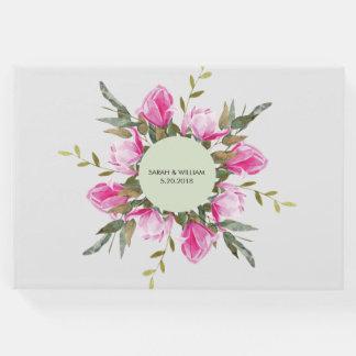 Livro De Visitas Aguarela floral da magnólia
