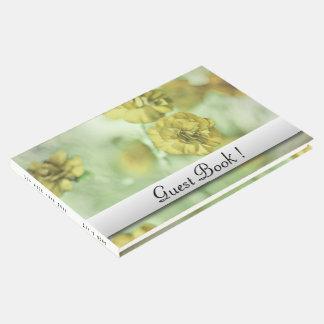 Livro De Visitas Amarelo minúsculo das flores