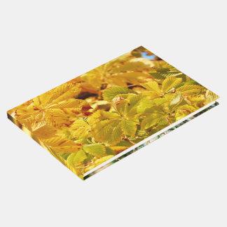 Livro De Visitas Amor amarelo da cor do outono
