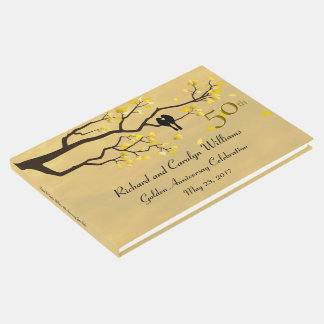 Livro De Visitas Aniversário do ouro dos Lovebirds