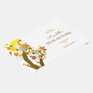 Livro De Visitas Aniversário lunático do marco miliário das árvores