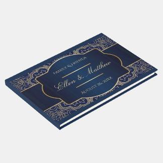 Livro De Visitas Azul luxuoso - Guestbook do casamento