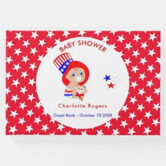 Livro De Visitas Bebê americano do tio Sam patriótico personalizado