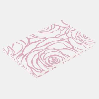 Livro De Visitas bonito, floral.pink, branco, peônias, femininos,
