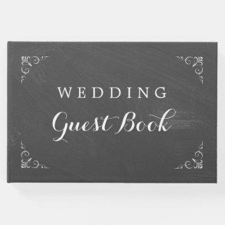 Livro De Visitas Casamento do quadro da tipografia do vintage