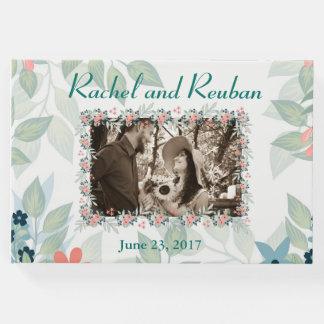 Livro De Visitas Casamento floral da foto