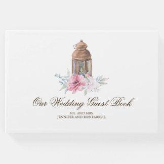 Livro De Visitas Casamento floral da lanterna