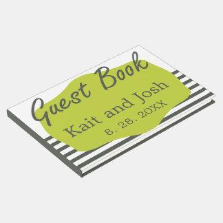 Livro De Visitas Casamento minimalista elegante do verde morno do