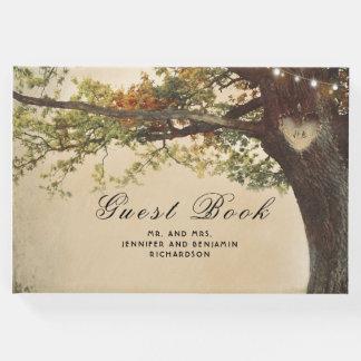 Livro De Visitas Casamento rústico do país da árvore da queda
