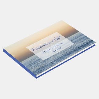 Livro De Visitas Celebração do azul de oceano do memorial da vida