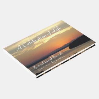 Livro De Visitas Celebração do memorial da foto do por do sol da