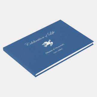 Livro De Visitas Celebração memorável da pomba da paz da vida
