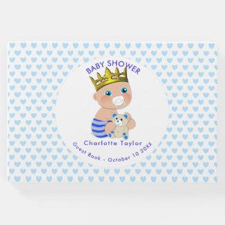 Livro De Visitas Chá azul do príncipe bebé dos corações