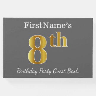 Livro De Visitas Cinzas, festa de aniversário do ouro do falso 8a +