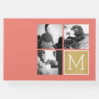 Livro De Visitas Criar seu próprio monograma da colagem da foto do