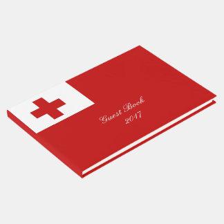 Livro De Visitas Cruz vermelha da bandeira da ilha de Tonga