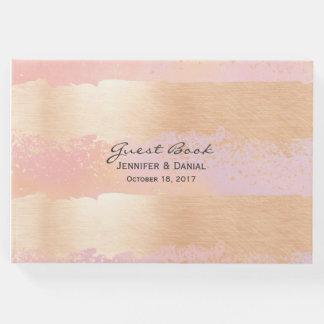 Livro De Visitas Cursos da escova do rosa e do ouro que Wedding o