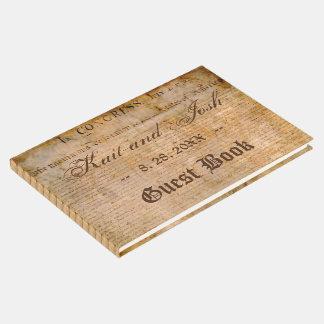 Livro De Visitas Declaração do casamento 1776 dos EUA da