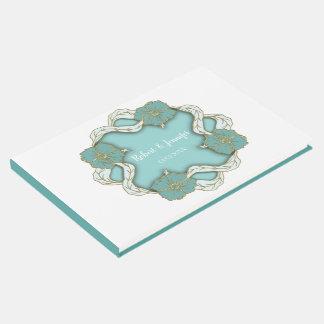 Livro De Visitas Design floral do casamento do monograma de