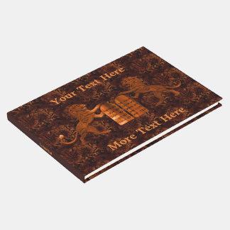 Livro De Visitas Dez mandamentos e leões