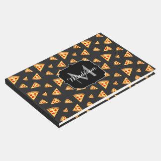 Livro De Visitas Esfrie e a pizza do divertimento corta o monograma