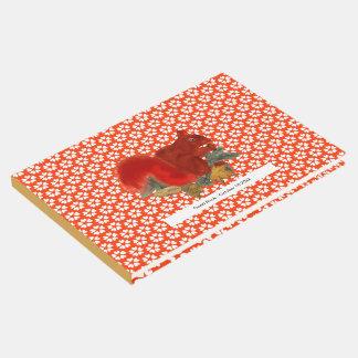 Livro De Visitas Esquilo vermelho bonito rústico da queda