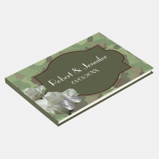 Livro De Visitas Exército que wedding o Guestbook temático