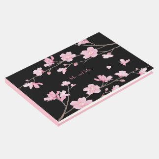 Livro De Visitas Flor de cerejeira - preto