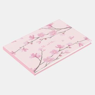 Livro De Visitas Flor de cerejeira - rosa