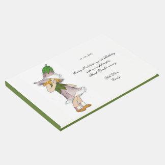 Livro De Visitas Florista bonito da genciana do partido de