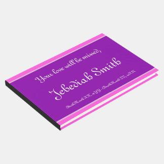 Livro De Visitas Funeral elegante e mínimo/livro de hóspedes
