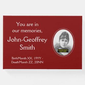 Livro De Visitas Funeral respeitável e básico/livro de hóspedes