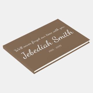 Livro De Visitas Guestbook afligido e personalizado das simpatias