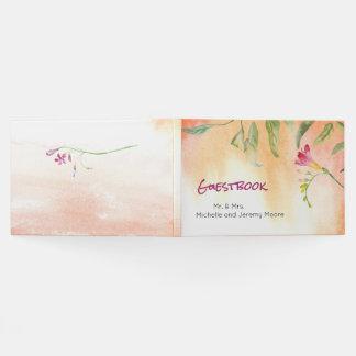 Livro De Visitas Guestbook do casamento do pop do rosa do Freesia