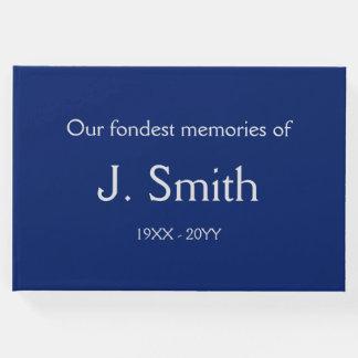 Livro De Visitas Guestbook fúnebre básico, simples