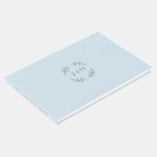 Livro De Visitas Guestbook simples do casamento do monograma