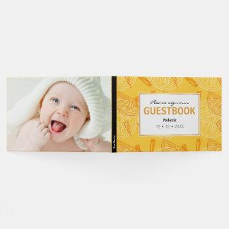 Livro De Visitas Limões amarelos brilhantes teste padrão tirado do