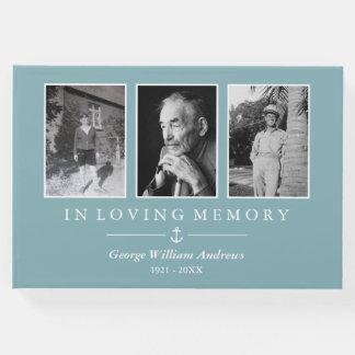 Livro De Visitas Luz - âncora azul em colagem Loving da foto da