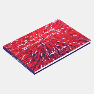 Livro De Visitas Memória azul branca vermelha/livro de hóspedes do