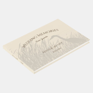 Livro De Visitas Memórias rústicas dos convidados do casamento da