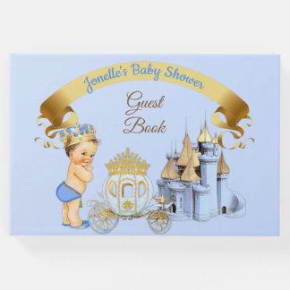 Livro De Visitas Menino real do príncipe Castelo Carruagem Azul