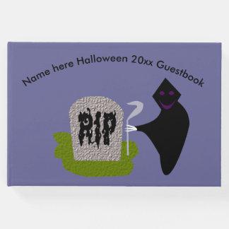 Livro De Visitas Morte no Guestbook do Dia das Bruxas do cemitério